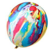 Painted colorful balloon — Stock Photo