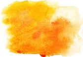 Yellow watercolor background — Stock Photo