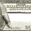 Torn dollar banknote - Stock Photo