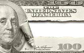 Torn dollar banknote — Stock Photo