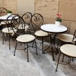 Cafe tables - Stock Photo