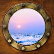 Boat porthole — Stock Photo