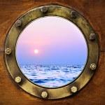 Boat porthole — Stock Photo