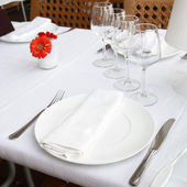 Table at a restaurant — Stock Photo