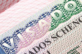Spanish Schengen visa — Stock Photo