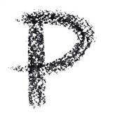 Hand-written alphabet — Stock Photo