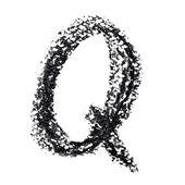 Elle yazılmış alfabesi — Stok fotoğraf
