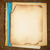 Old blank copy-book — Stock Photo