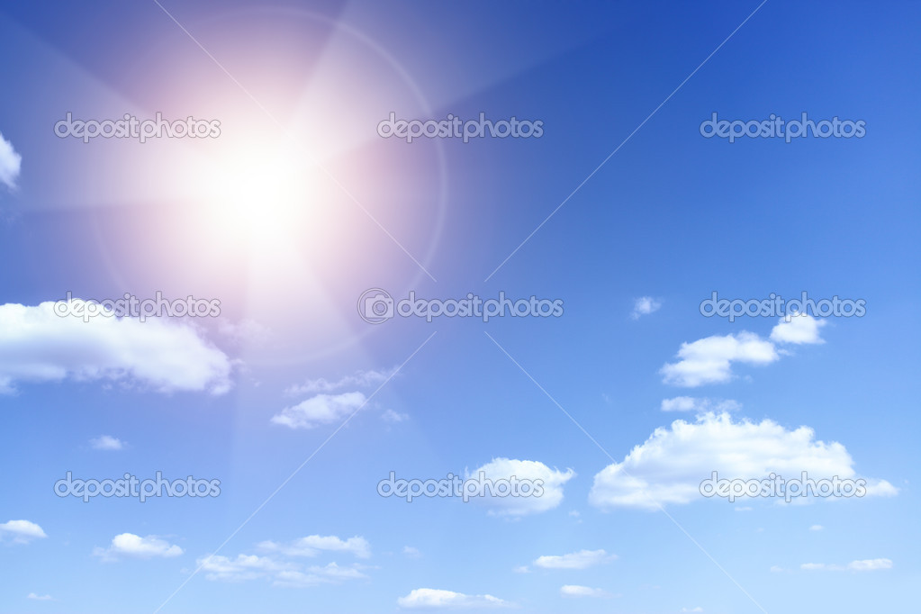 Sun with beams looking as danger radiation sign — Stock Photo #6555400