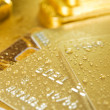 Fine gold and credit card — Stock Photo