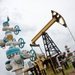 Stock Photo: Pumpjack and oilwell.