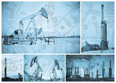 Oil industry and money. — Stock Photo