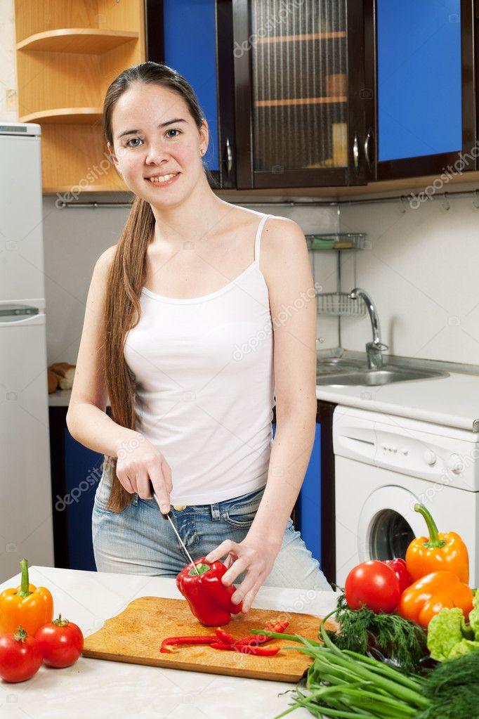 порно молоденьких кухни