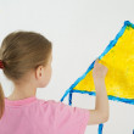 Beauty child painting — Stock Photo