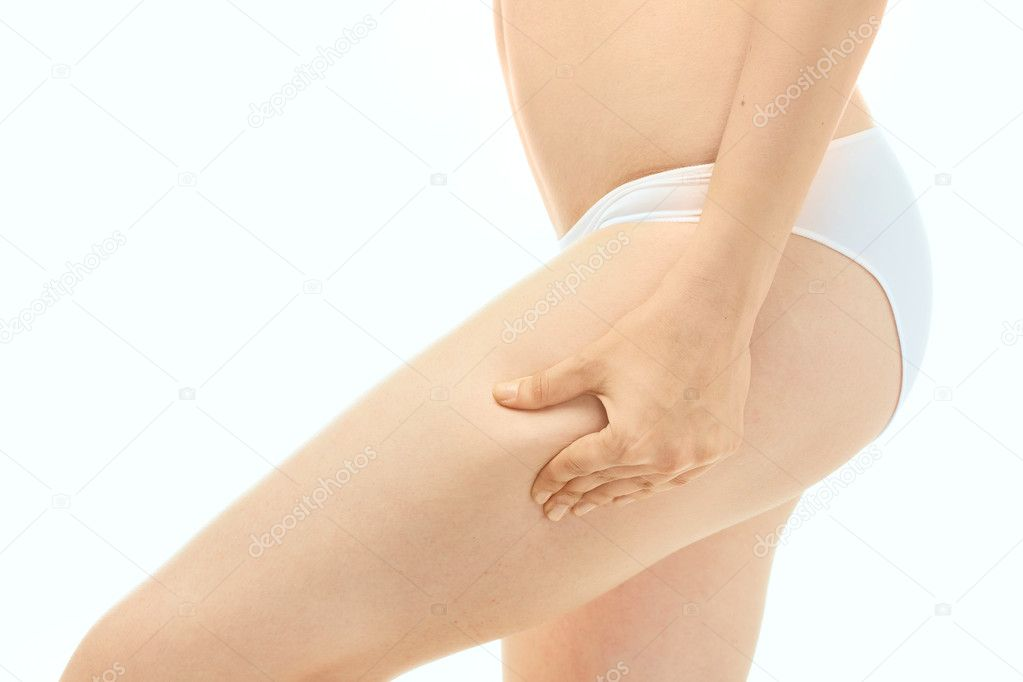 Woman Fingers Touching her body parts   Stock Photo #5758888