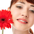 Beauty woman with flower — Stock Photo #5805253