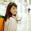 Shopping woman in mall — Stock Photo