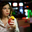 Woman with cocktail — Stock Photo #5931091