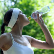 Woman drink water — Stock Photo