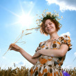 Woman in wheat field — Stock Photo #6015115