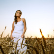 Woman in wheat field — Stock Photo #6106741