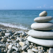 Balanced stones on the sea — Stock Photo #6265614
