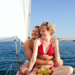 Stock Photo: Man and woman on a yacht