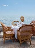 海边的咖啡馆 — 图库照片