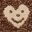 Coffee heart smile — Stock Photo