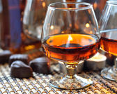 Brandy and sweet — Stock Photo