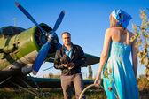 Скромный пилот — Стоковое фото