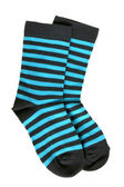 Pair of child's striped socks — Stockfoto