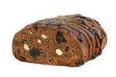 Rågbröd med hasselnötter och frukt — Stockfoto