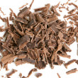 Dark chocolate shavings — Stockfoto