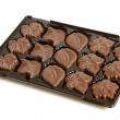 Chocolate sweets in a box - Stock Photo