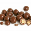 Hazelnuts in chocolate — Stock Photo