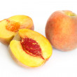 Fresh peach fruits — Stock Photo