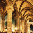 Interior of cathedral Notre Dame de Paris, Paris, France — Stock Photo