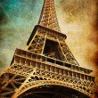 Stock Photo: Vintage postcard with Eiffel tower