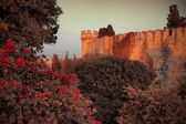 Mystery medieval castle — Stock Photo