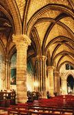 Interior of cathedral Notre Dame de Paris, Paris, France — Stock Photo