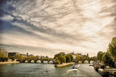 Cite island, view from Seine river, Paris, France — Stock Photo