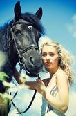 Ati ile güzellik — Stok fotoğraf
