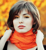 Miss autumn — Stock Photo
