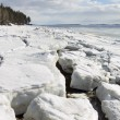 Sea ice is destroyed in the spring — Foto Stock