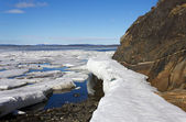Sea ice is destroyed in the spring — Foto de Stock