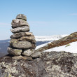 Stock Photo: Cairn in mountains