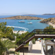 Stock Photo: Beautiful view from hotel on Aegean