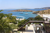 Beautiful view from the hotel on the Aegean — Stock Photo