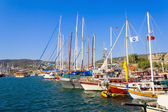 Moored yachts, Bodrum, Turkey — Stock Photo